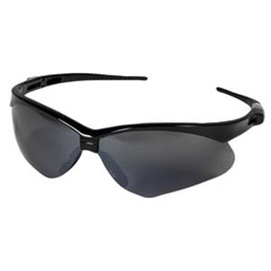 Nemesis Safety Glasses Black Frame Smoke Lens title=